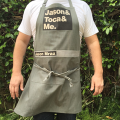 Jason, Toca and Me Apron - Jason Mraz