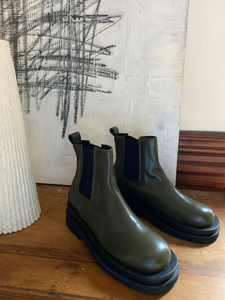 Short Moss Boot Olive