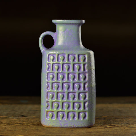 Mid Century 'OP ART' Vase with a Handle