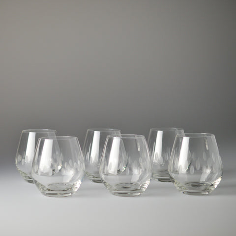 1950's Hand Cut Shot Glasses