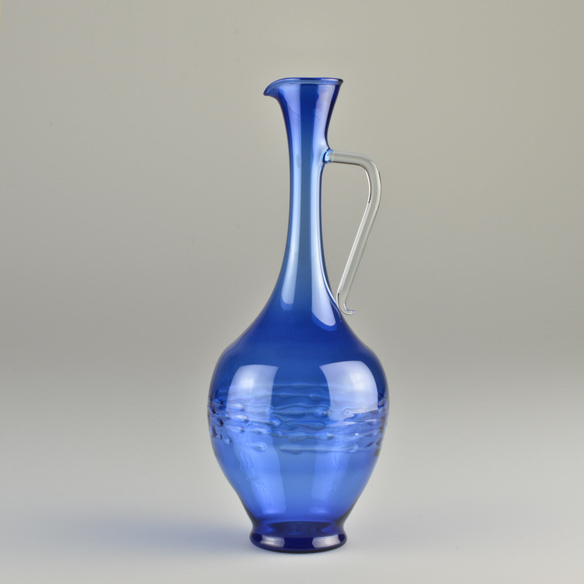 1960's Lauscha Glass Vase with a Handle by Albin Schaedel