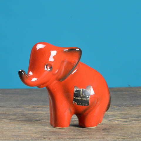 1960's Elephant Ceramic Figurine