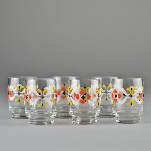 1960's - 1970's X6 'Folk' Shot Glasses