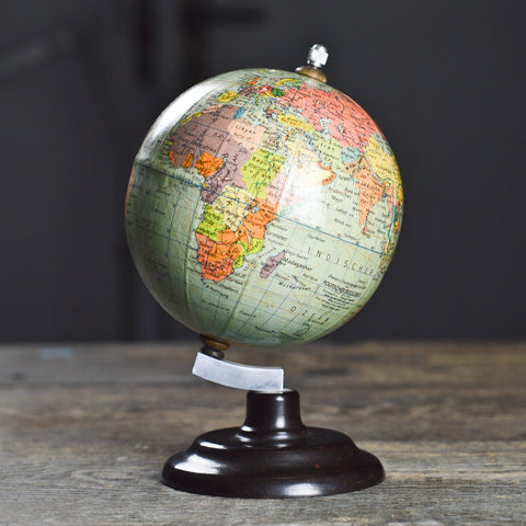 1950's Desk Top German Political Globe with Bakelite Stand