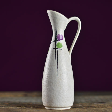Mid Century 'Art Geometrics' Vase with a Handle