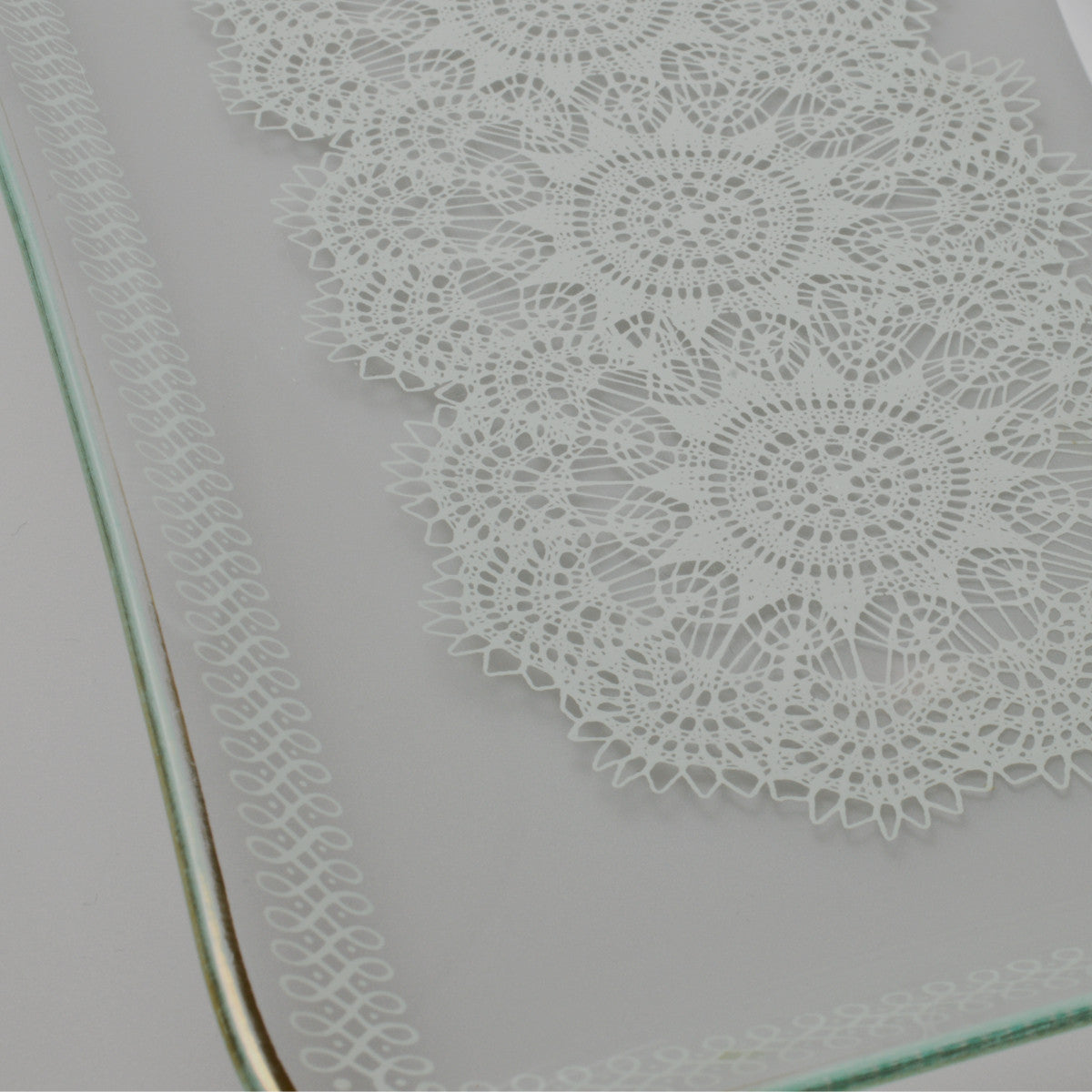 1950's – 1960's Rectangular Glass Serving Tray