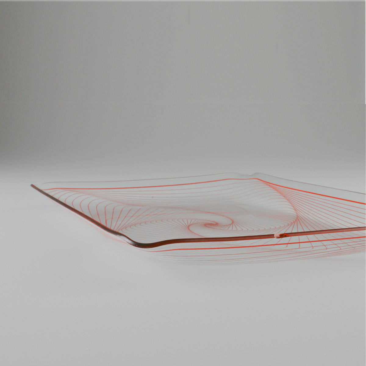 1960's Rectangular Glass Serving Tray