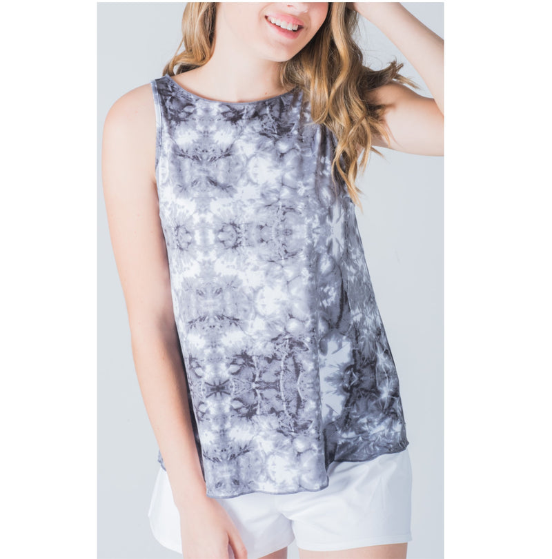 Neck Protector Tie-Tank - Grey Multi
