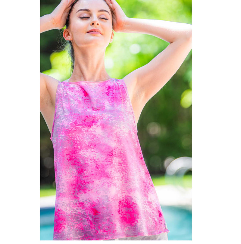 Neck Protector Tie-Tank - Pink Paradise