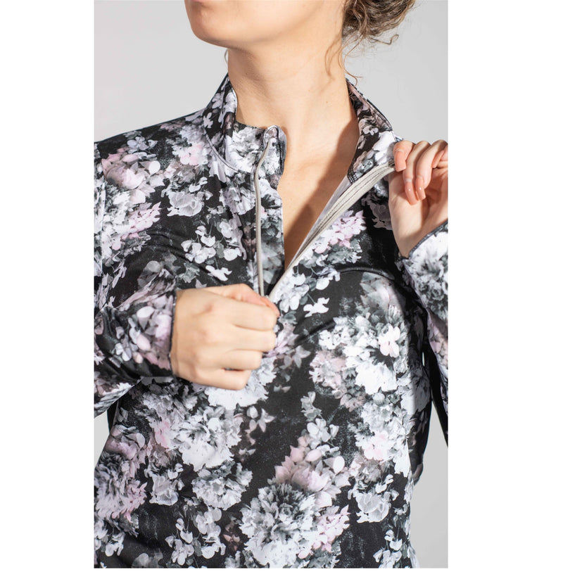 Sun Protector Half Zip Tunic- Floral Bouquet