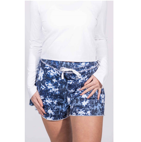 Court Short - Tie Dye Navy