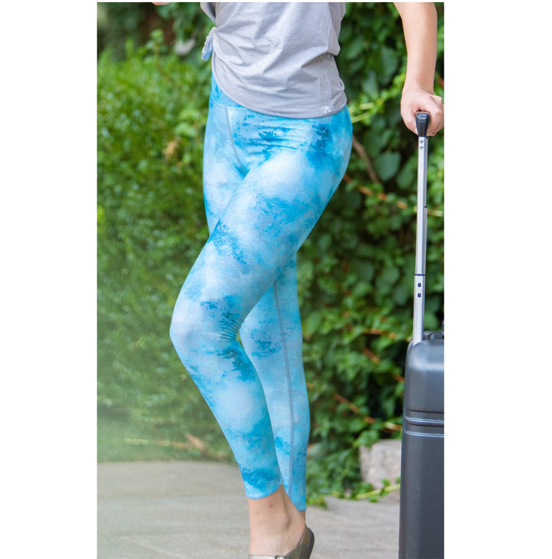 Printed Legging - Blue Lagoon