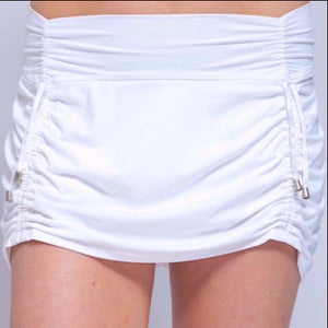 Cinch-Up Skort White