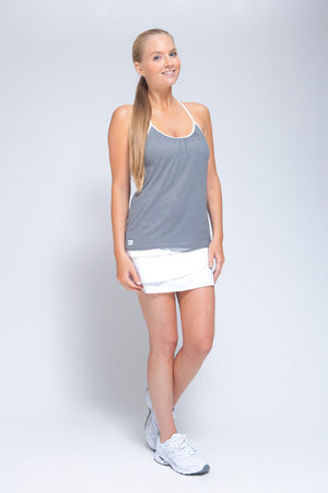 Forgiving Cami Tank Heather Grey