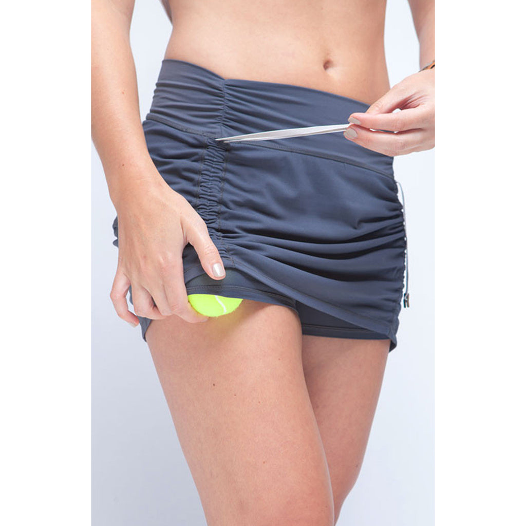 Cinch-up Skort Charcoal Grey