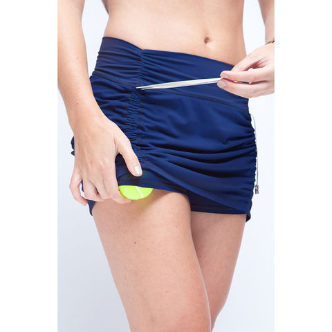 Cinch-Up Skort Navy