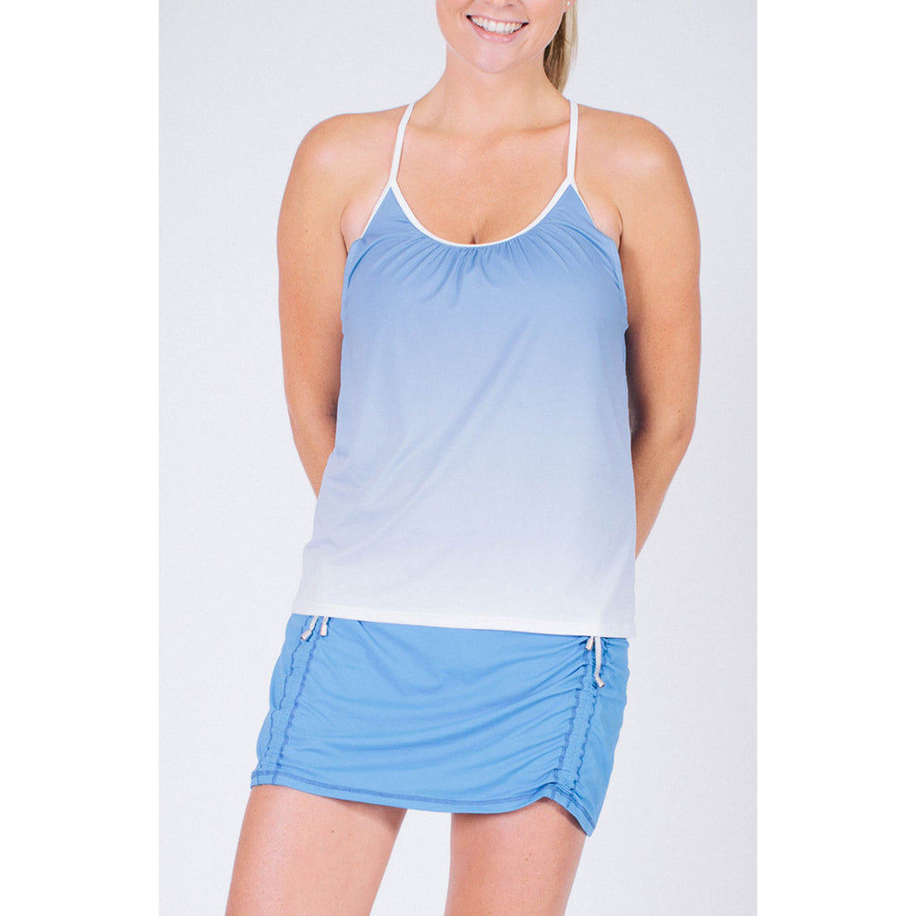 Forgiving Cami Tank Ombre Blue