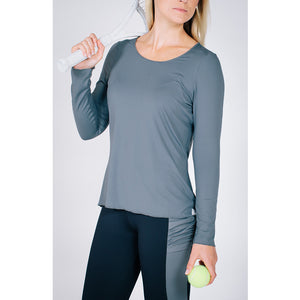Sun Protector Top Charcoal