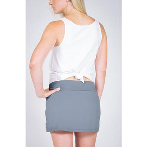 Colorblock Pocket Skort - Charcoal