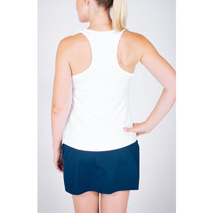 Racer Tank White/Navy Trim