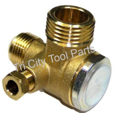 160-591 Hitachi  Air Compressor Check Valve 90deg.