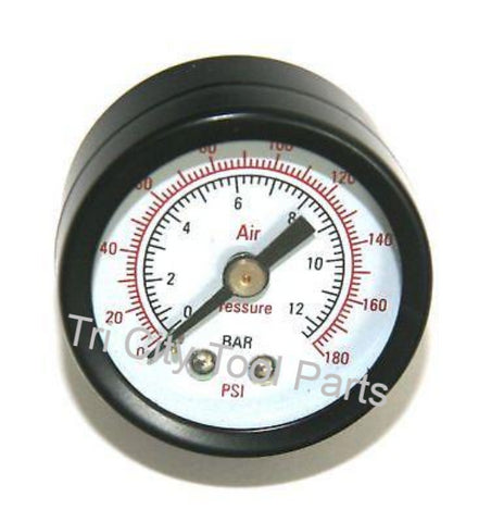 "AB-4100606 / AB-9052092 Bostitch Gauge  1/8"" NPT Back Mount  CAP2040P-OF CAP60P-OF"