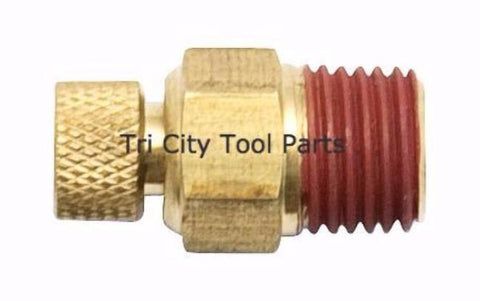 072-0019 Tan Drain Cock Powermate Air Compressor Drain Valve 1/4