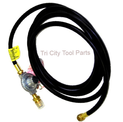 F273072 Mr Heater Propane Hose W/ Regulator & POL  12FT X 3/8 FPT