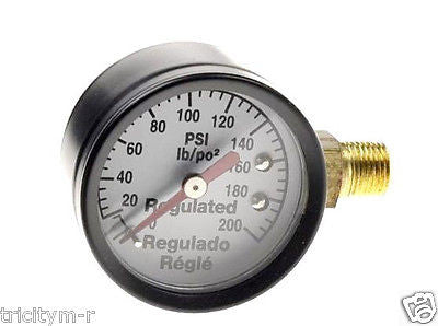 "Z-AC-0010-1 Craftsman Air Compressor Gauge 1-1/2""  200psi  1/8"" NPT  Side Mount"