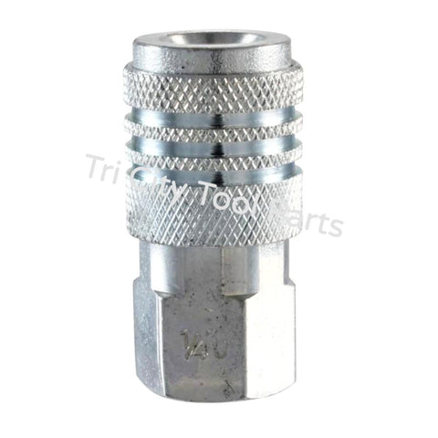 "MP602500AV 1/4"" Universal Steel Coupler 1/4"" Female NPT"