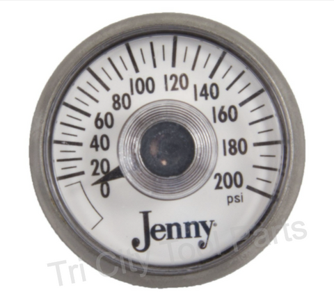 142-1002 Gauge Jenny Air Compressor Gauge 200 PSI  1.5