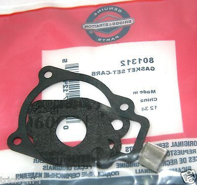 801312 Briggs & Stratton Snow Blower Carburetor Gasket Set   Genuine OEM Parts