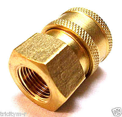 "Pressure Washer 1/4"" Quick Coupler Disconnect Socket 1/4"" Female NPT"
