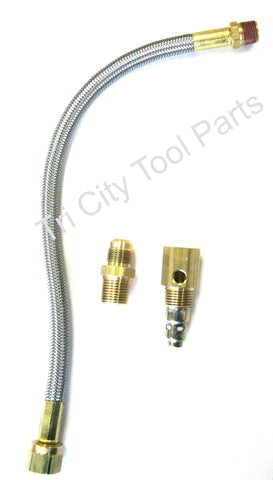 Stainless Steel Braided Air Exhaust Tube Retrofit kit : Craftsman / Porter Cable
