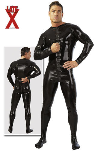Latex Bodysuit, Front to Back Zipper