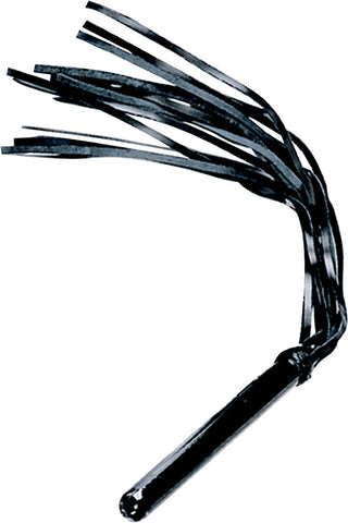 Black Leather Flogger, Rounded Handle