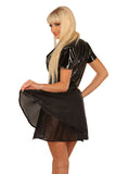 Low Cut PVC Top with Fabric Skirt