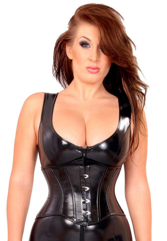 Datex Ledapol short corset with metal fastener in front