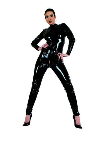 PVC Full Body Suit, Zippered Crotch
