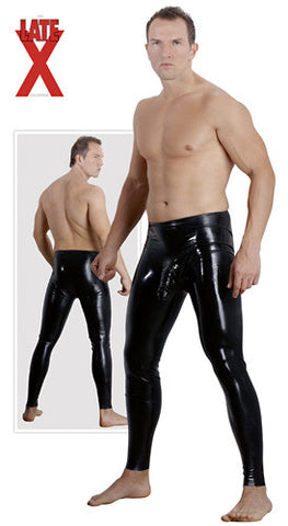 Latex Pants with Sleeve