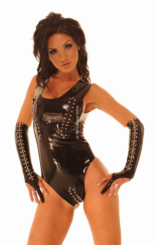 Latex Teddy, Zippers, Studs