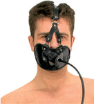 Mouth Mask with Hole and Dildo Gag