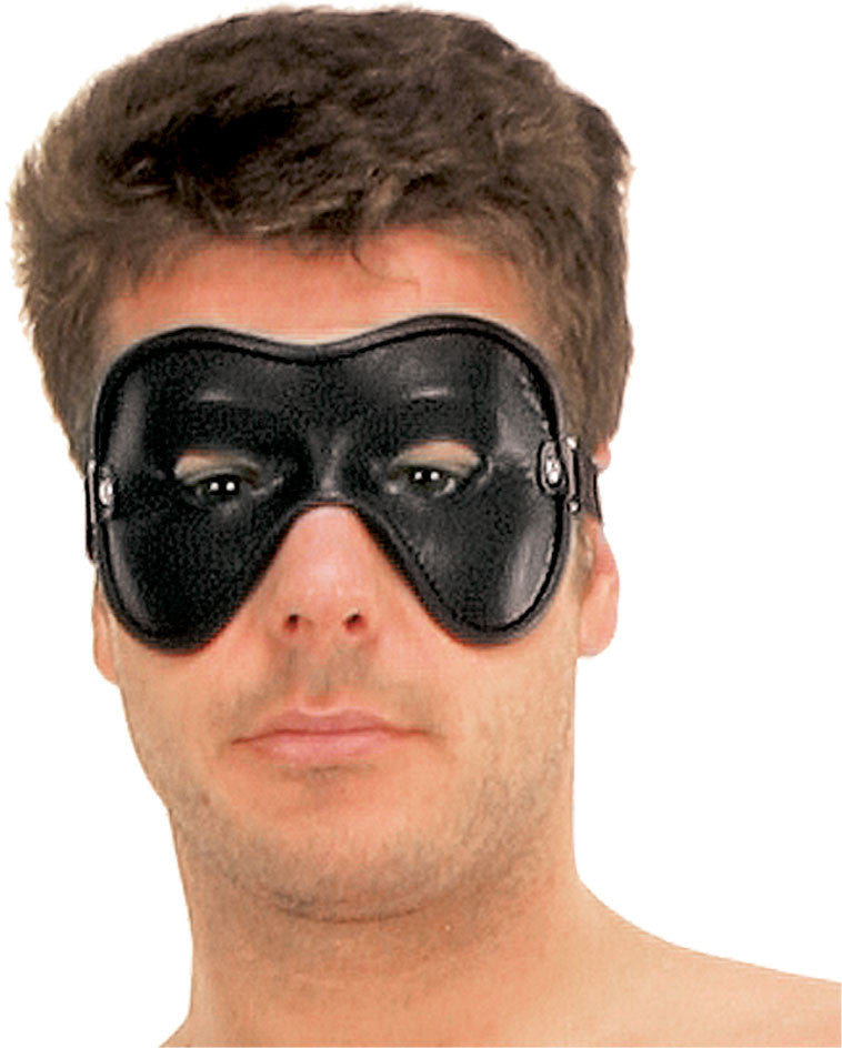 Leather Molded Eye Mask with Eye Holes