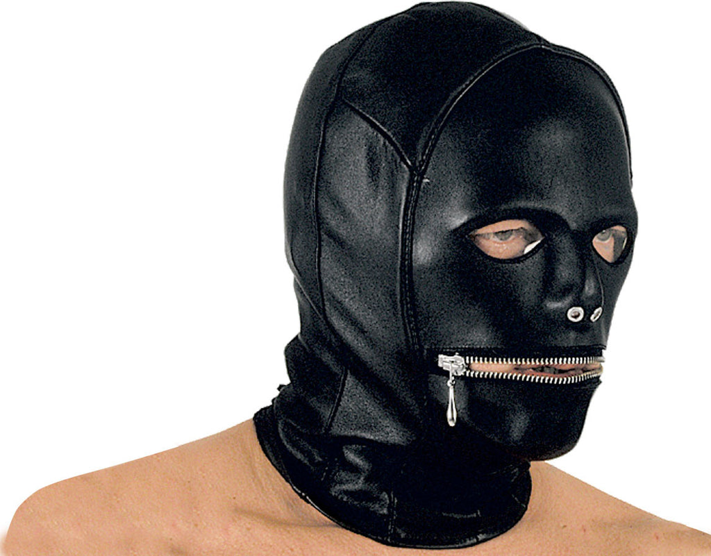Zipper Mouth, Molded Face Mask
