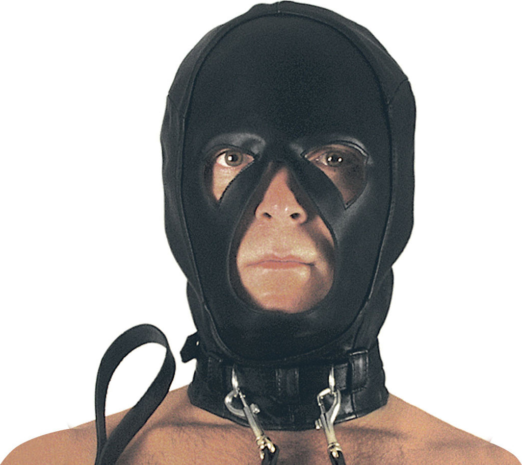 Leather Mask, Collar, Double Rings