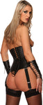 Leather Top, Underbust, Corset Style, Lace Up Back, Zipper Front