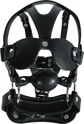 Adjustable Mask, Blindfold, Ball Gag, Multi-Strap