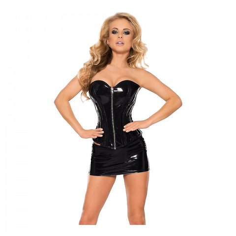 Datex Corset With Front Zipper & Back Lacing