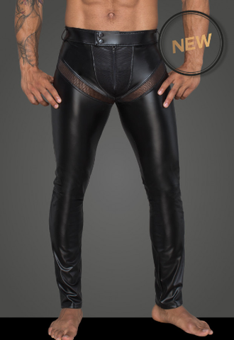 Powerwetlook long pants with inserts and pockets made of 3D net