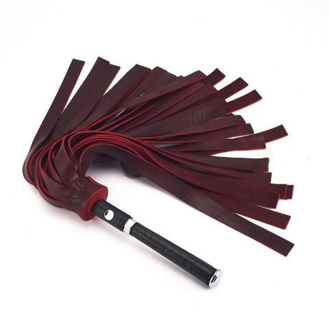 Black Cherry Tuscan Bison Flogger
